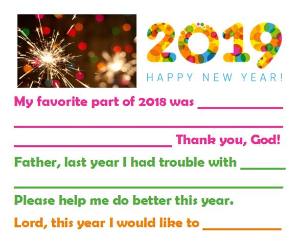 New Year's Resolution Prayer for Kids